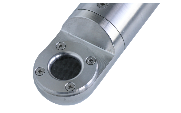 NOS rod sensor for flow measurement based on the transit time method