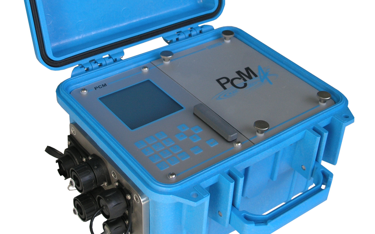 NIVUS PCM 4 flow meter for temporary flow measurement