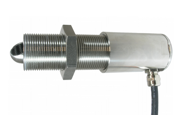NOS screw-in sensor for flow measurement in clean to slightly polluted media