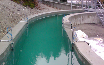 Application example flow measurement for hydro power