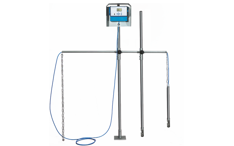 NivuScope 2 - separation layer measurement - with mountint accessories