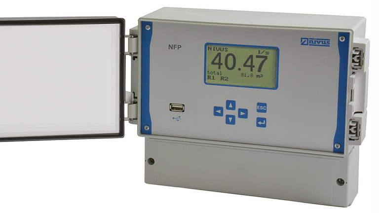 NFP flow meter for flow measurement in full pipes