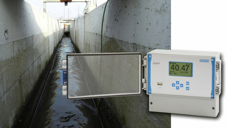 OCM F flow meter application example
